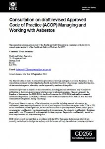 HBE Asbestos ACoP Consultation Document