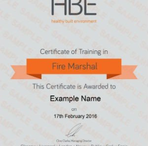 Fire Marshal warden training