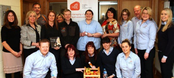 HBE Health and wellness staff event at HBE Newry office