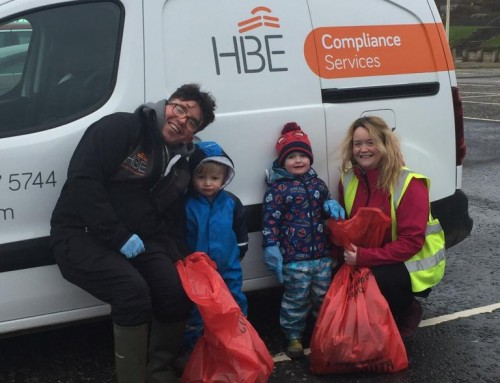 HBE support South Ayrshire Council Beach Clean