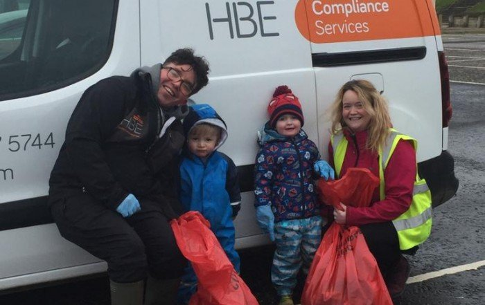 HBE's water hygiene team support South Ayrshire Council's Beach Clean project